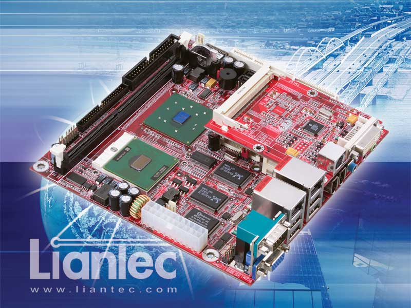 Liantec ITX-6800 Mini-ITX Intel 852GM Pentium M / Celeron M EmBoard with Embedded Tiny-Bus Modular Extension Solution