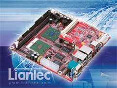Liantec ITX-6800 Mini-ITX Intel Pentium M EmBoard with Tiny-Bus Modular Expansion Solution