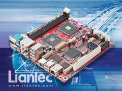 Liantec ITX-6M45 Mini-ITX Intel GM45 Core 2 Duo / Quad Mobile Penryn DDR3 Express EmBoard with Embedded Tiny-Bus Modular Extension Solution