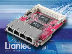 Liantec TBM-1230 Tiny-Bus 4-Port Fast Ethernet Switch and Mini-PCI Module