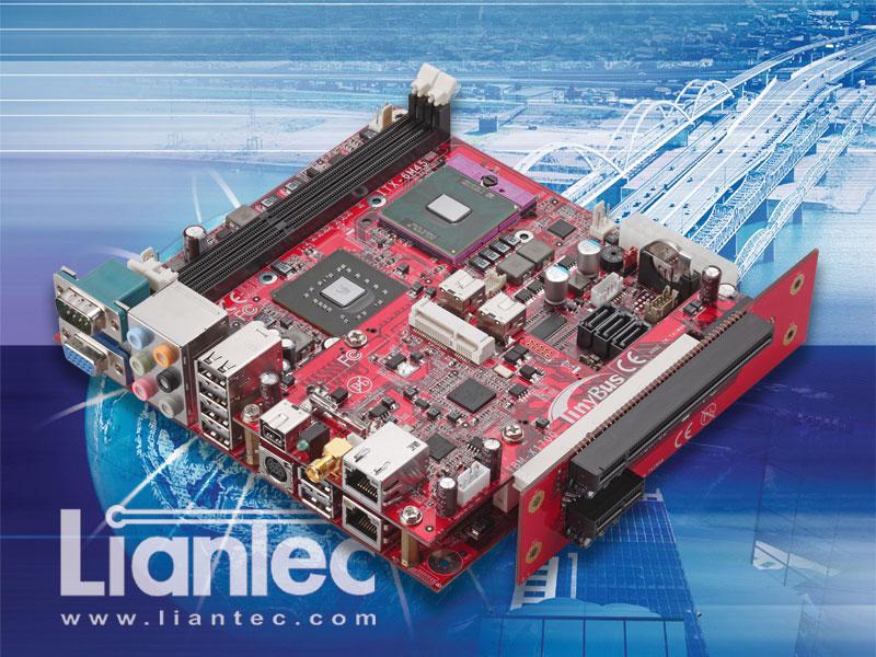 Liantec TBM-X1700 : Tiny-Bus 1U Low Profile x16 PCIe / x1 PCIe 2 ...