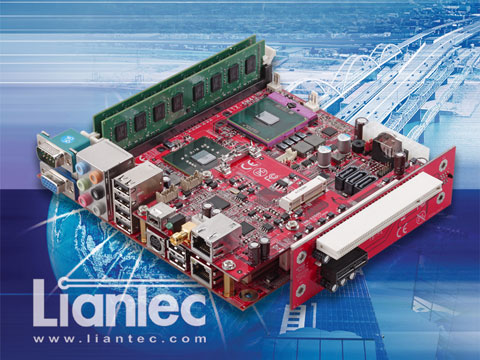 Liantec TBM-X2000 Tiny-Bus 1U Low Profile 2-Slot PCIe/PCI Extension Solution on Mini-ITX Platform