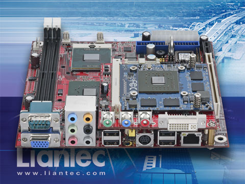 Liantec Mini-ITX Intel Core 2 Duo EmBoard with Tiny-Bus MXM Graphics