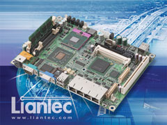Liantec EMB-5940 : 5.25-inch Intel Core2 Duo Mobile Multiple PCIe Gbit Ethernet Networking EmBoard with Tiny-Bus Modular Extension Solution