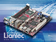 Liantec ITX-6965 Mini-ITX Intel Core 2 Duo Mobile EmBoard with Tiny-Bus Modular Expansion Solution