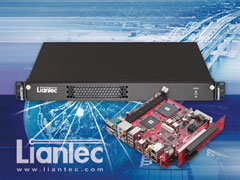 Liantec R1X-GM45 series Industrial 1U Mini-ITX Intel GM45 DDR3 Barebone Solution with Tiny-Bus Modular 1U 2-Slot PCIe/PCI Extension Solution