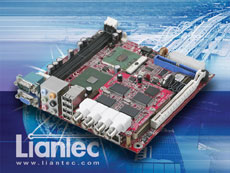 Liantec TBM-1420 Tiny-Bus PCIe 4-Channel Video Capture Module on Mini-ITX Small Form Factor EmBoard