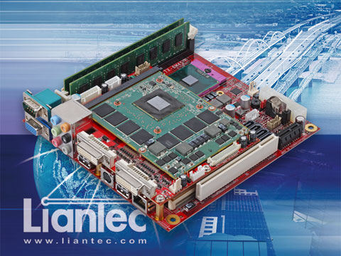 Liantec Mini-ITX Motherboard with Tiny-Bus Modular Extension Solution